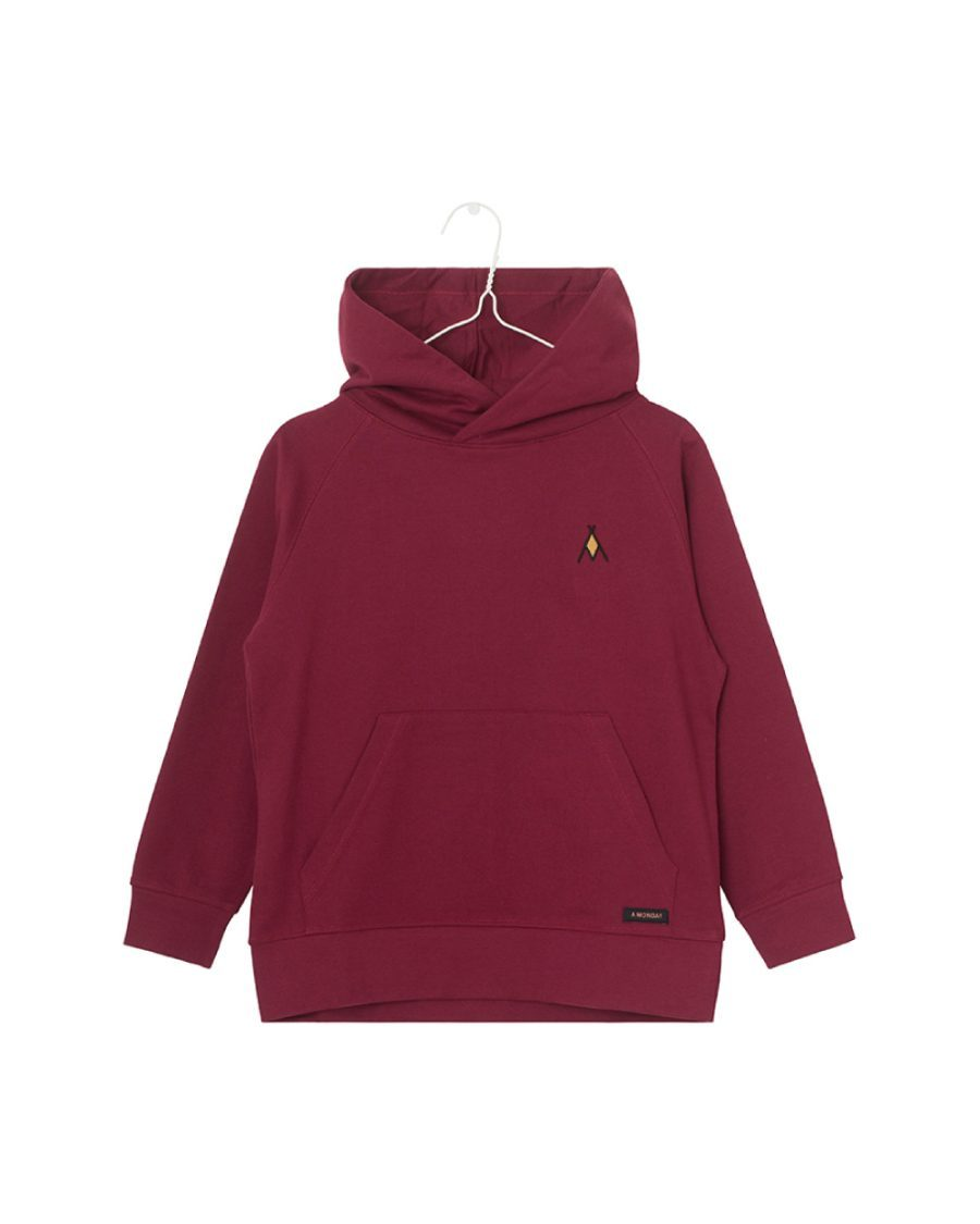 Sweat-à-capuche-Coton-Bio-Vic-bordeaux