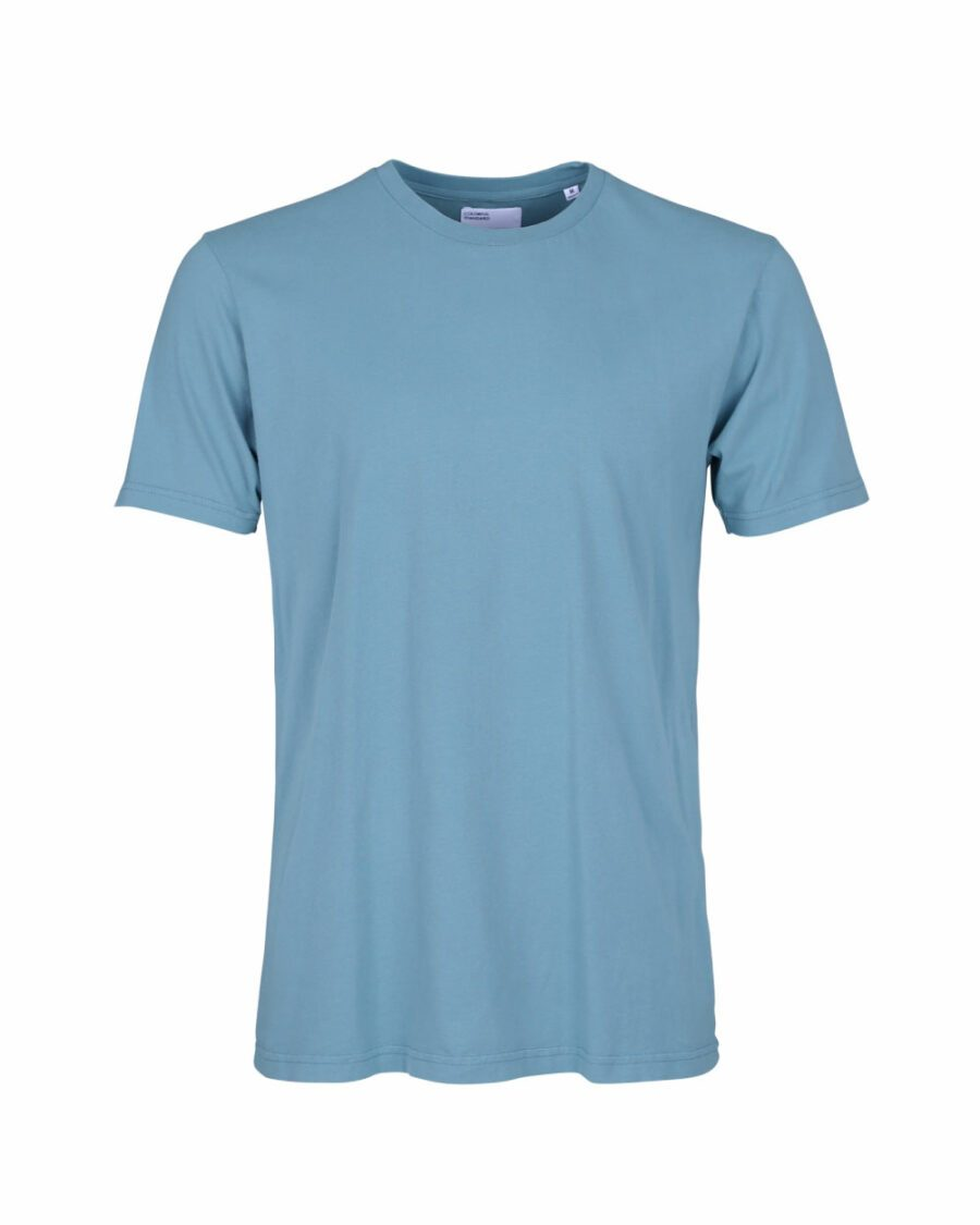 T-Shirt-Stone-Blue Colorful Standard