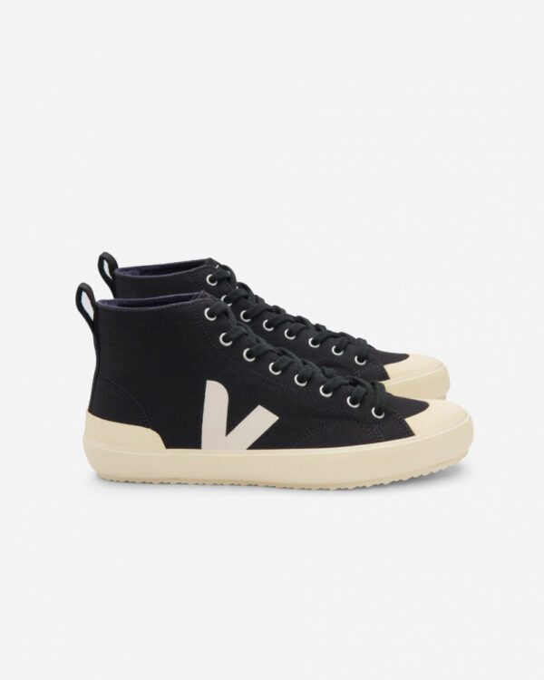 Baskets montantes écologiques Veja Canvas Black Butter Sole Nova HT noires