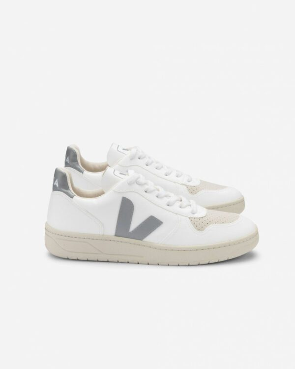 Baskets éthiques Veja V-10 CWL White Oxford Grey