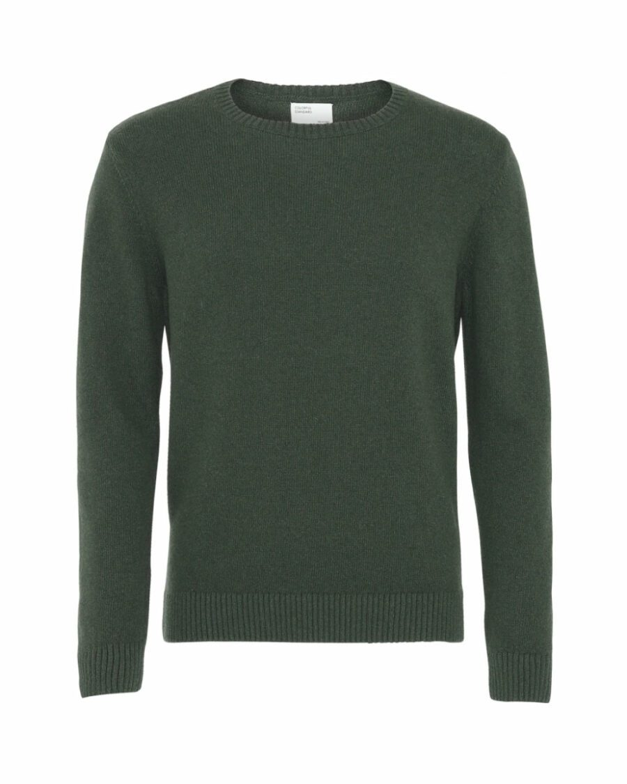 Pull laine mérinos couleur emerald green Colorful Standard